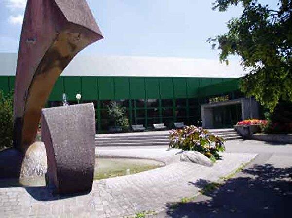 Eingangsbereich der Stadthalle Olten