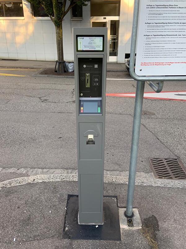 Parkuhr für Tages-Parkbewilligungen