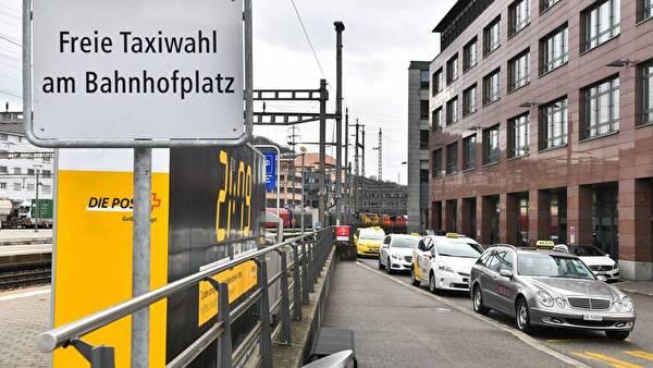 Taxistandplatz am Bahnhof Olten