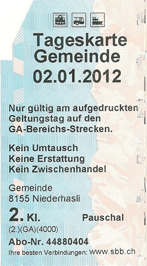 SBB-Tageskarte