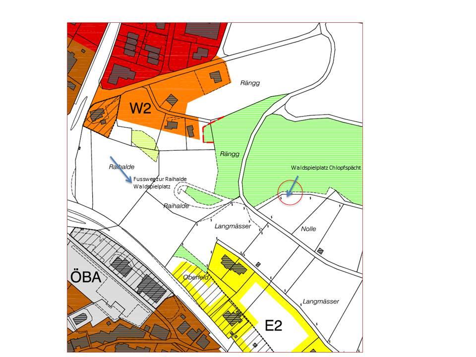 Lageplan Waldspielplatz
