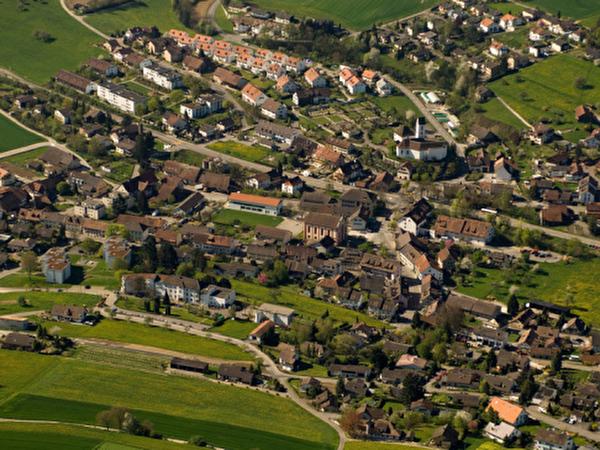 Luftaufnahme ab Richtung Rebe