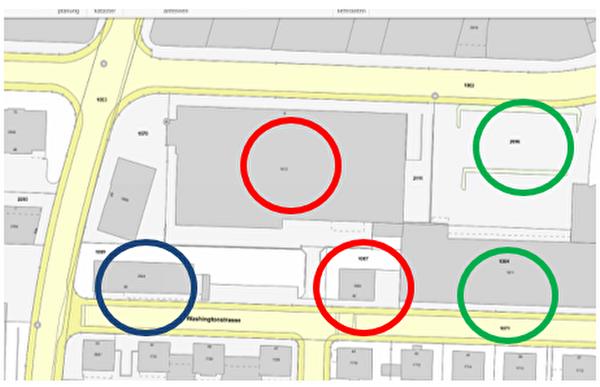 Bauvorhaben an der Washingtonstrasse - Mitwirkungsverfahren