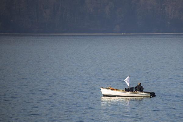Foto Fischerboot auf dem Bodensee
