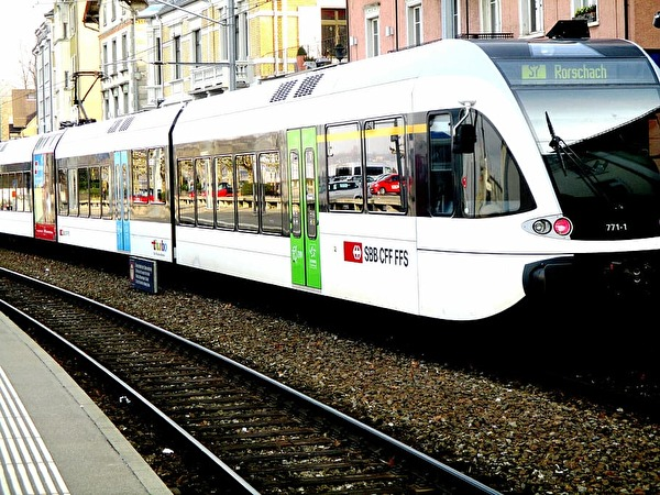 Foto Thurbo Zug am Rorschacher Hafenbahnhof