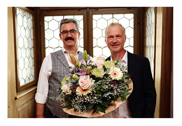 Stadtpräsident Robert Raths und Reto Kaelli
