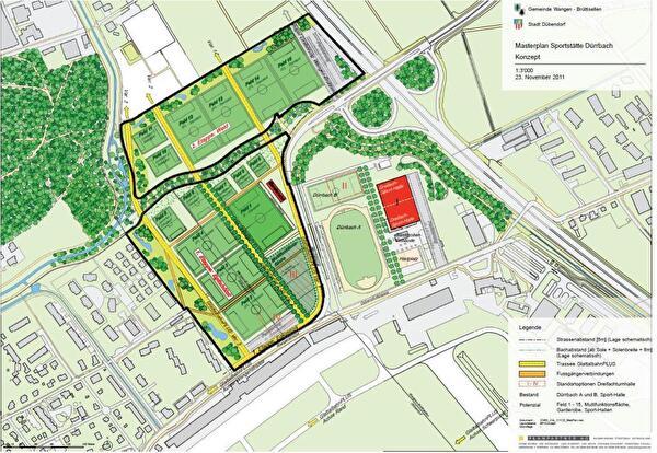 geplante Sportstätte Dürrbach
