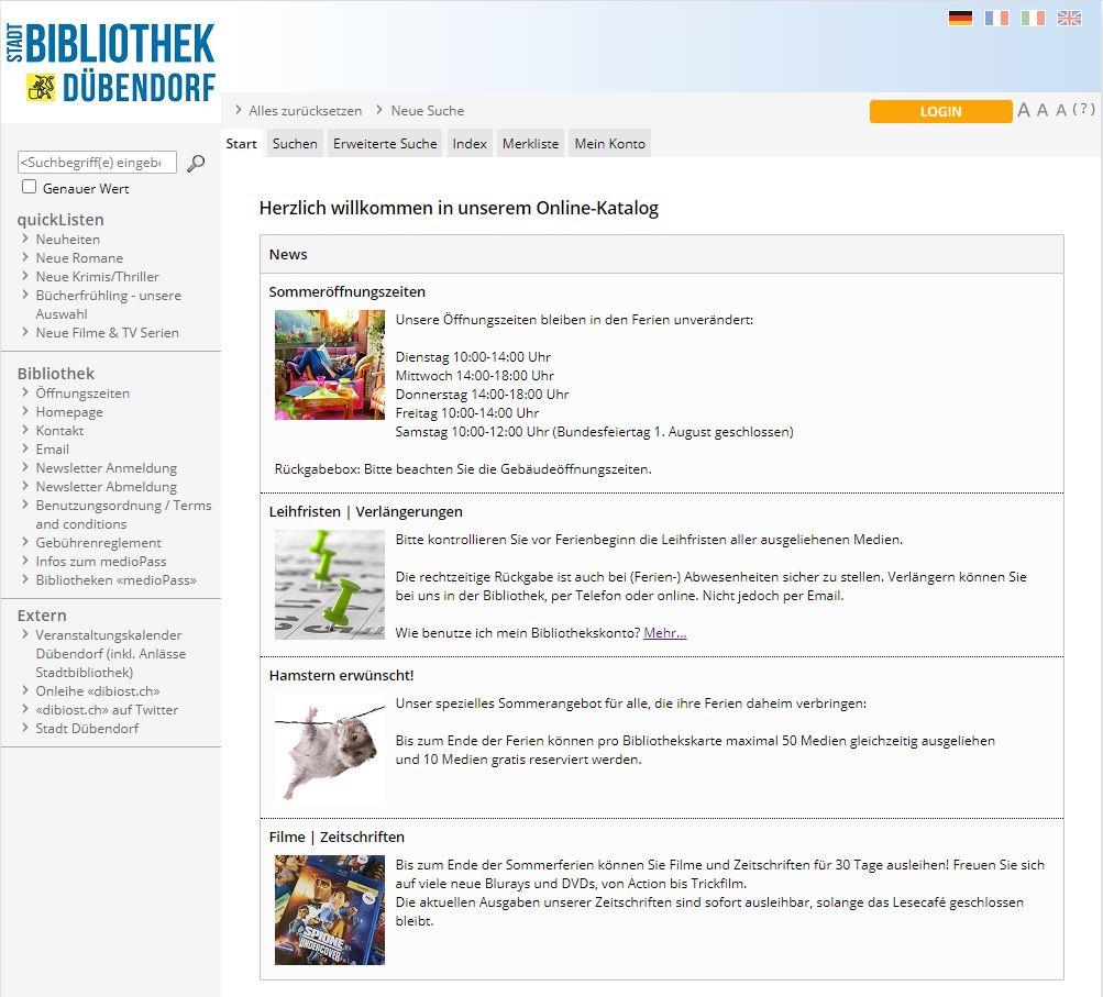 Katalog Stadtbibliothek