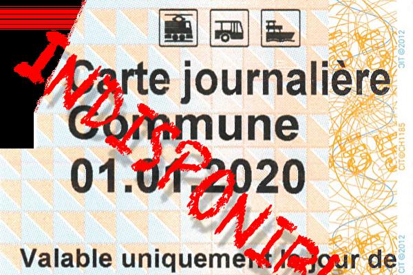 carte journalière