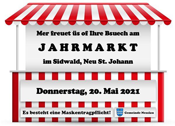 Plakat Frühlingsmarkt 21 - Maskentragpflicht