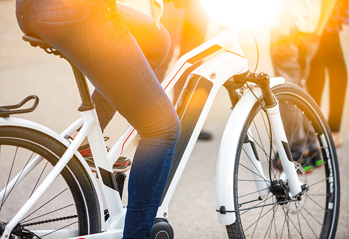 Photo d'un vélo