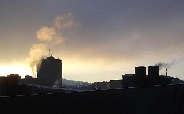 Rauch von Feuerungsanlagen in Gossau