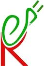 grünes e als Stromkabel und rotes K