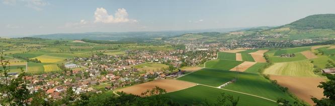 Dorfansicht von einem Aussichtspunkt Richtung Nordosten