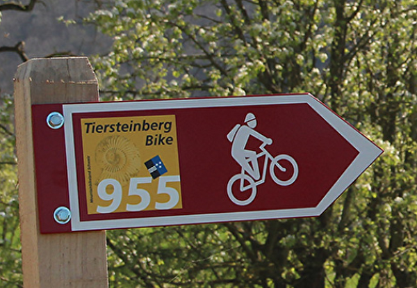 Schild Tiersteinberg Bike