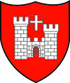 Armoiries de la Ville de Romont (château avec croix)