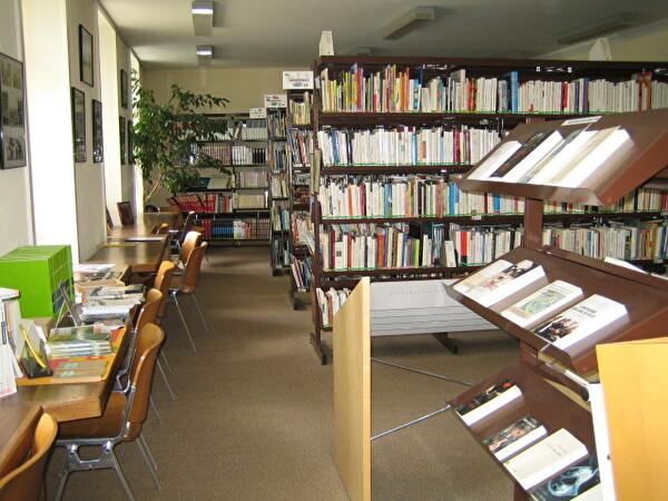 Intérieur de la Bibliothèque - rayonnage de livres