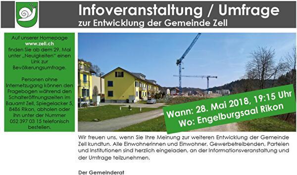 Flyer Infoveranstaltung Entwicklung Gemeinde Zell