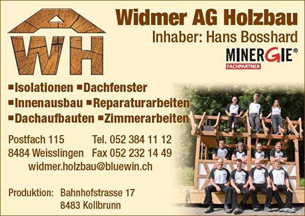 Visitenkarte Widmer AG Holzbau