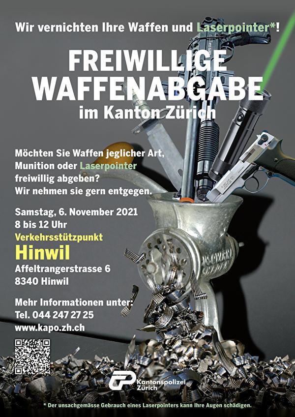 Flyer Freiwillige Waffenabgabe Kanton Zürich