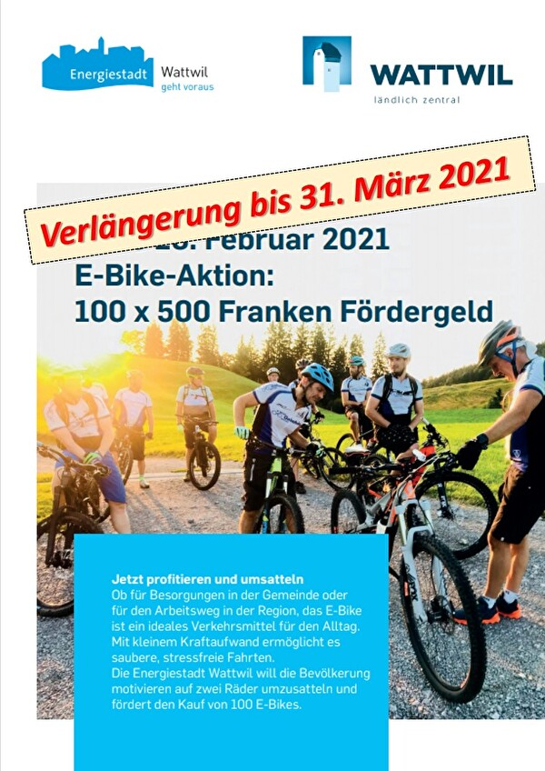 Flyer Aktion betreffend E-Bike