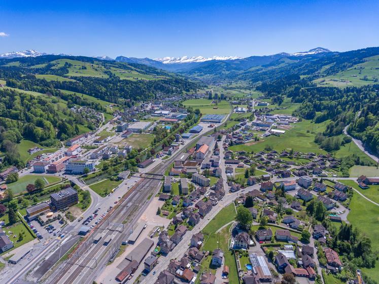 Das Quartier Bahnhof Süd, Austrasse und Rietwis wird neu geplant und bebaut.
