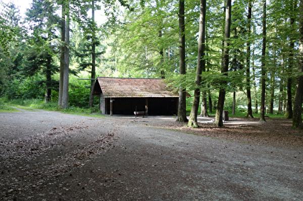 Waldhütte, Unterstand und Grillplatz