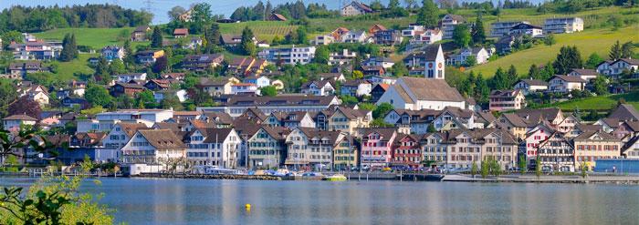 Das Bild zeigt einen Ausschnitt der Gemeinde Schmerikon.
