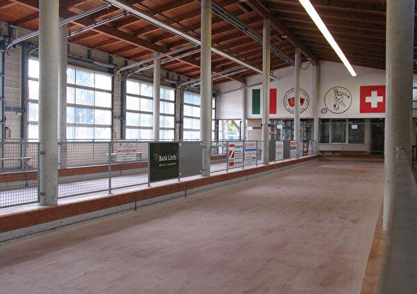 Das Bild zeigt die Boccia-Anlage San Giacomo.