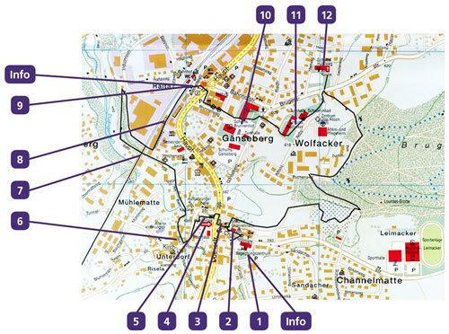 Karte Dorfrundgang