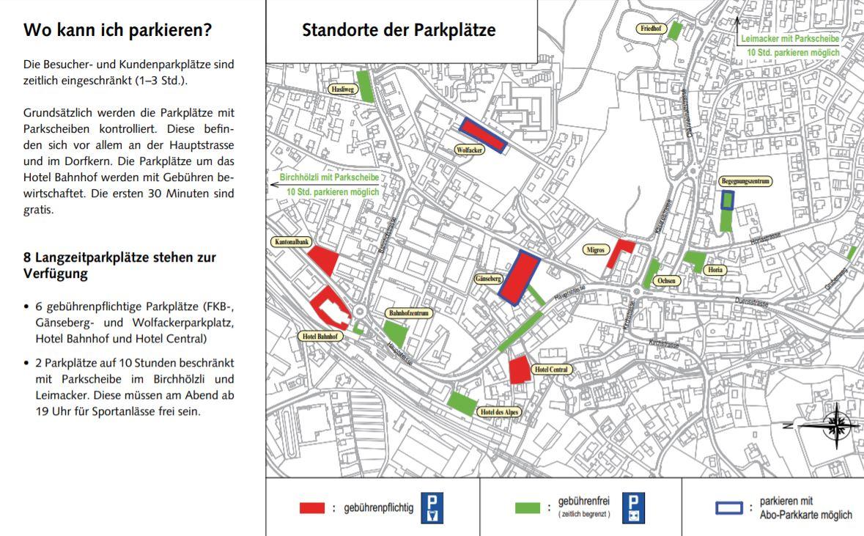 Karte Parkplätze
