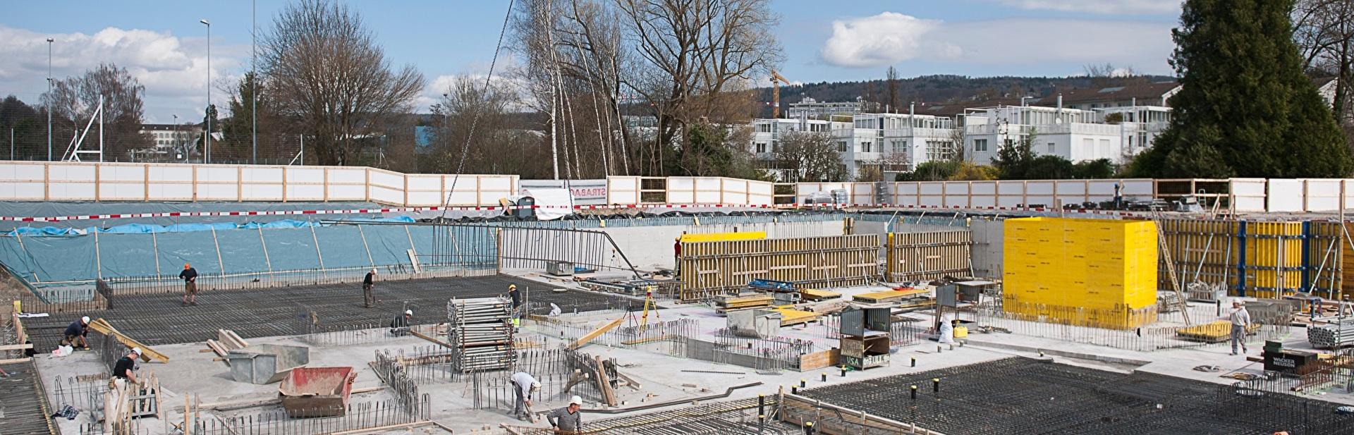Baustelle des WPZ Blumenrain