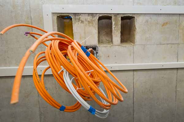 Kabel auf einer Baustelle