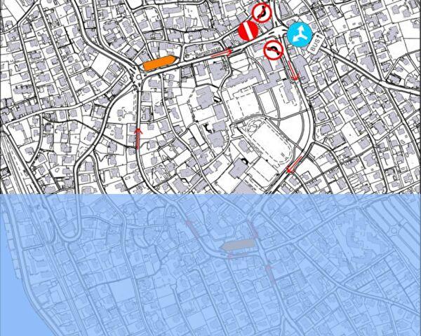 Plan Bauarbeiten Bergstrasse