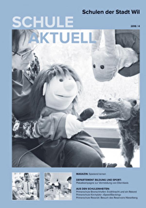 Titelseite des Infomagazins Schule aktuell - Ausgabe 4 des Jahres 2018