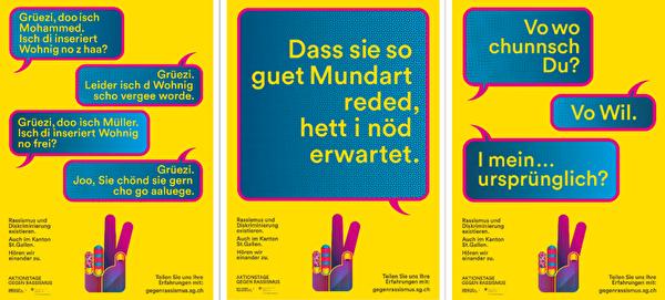 Plakate der Aktionstage gegen Rassismus