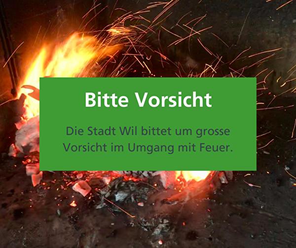Mässige Waldbrandgefahr in der Region Wil – Nationalfeiertag