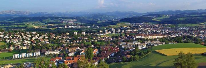 Stadt Wil - Blick vom Wiler Turm