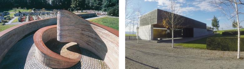 Friedhof Altstatt (links) und Friedhof Ebnet (rechts)