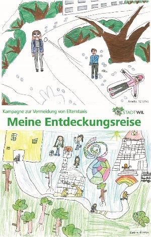 Plakat der Kampagne zur Vermeidung von Elterntaxis