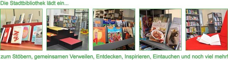 Fotocollage zur Stadtbibliothek
