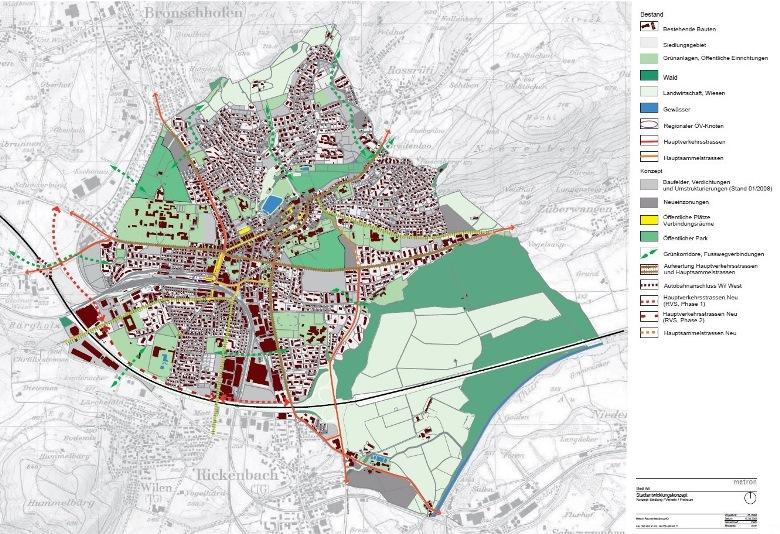 Übersichtsplan Stadtentwicklungskonzept