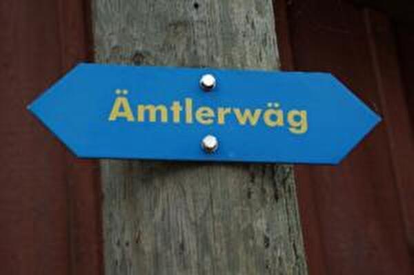 Foto Wegweiser Ämtlerwäg