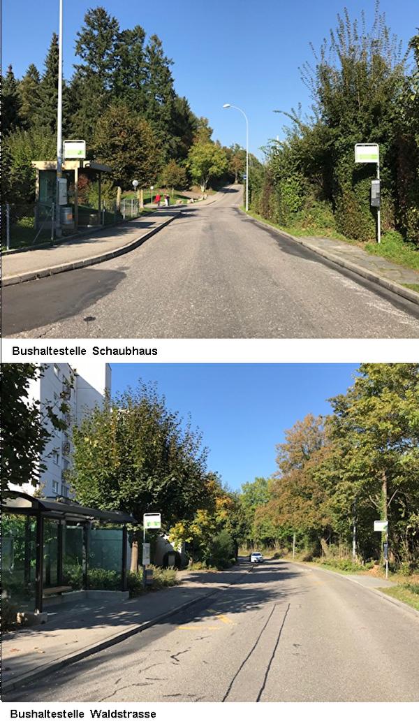 Bushaltestellen Schaubhaus und Waldstrasse