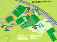 Bild mit Plan der Sportanlagen