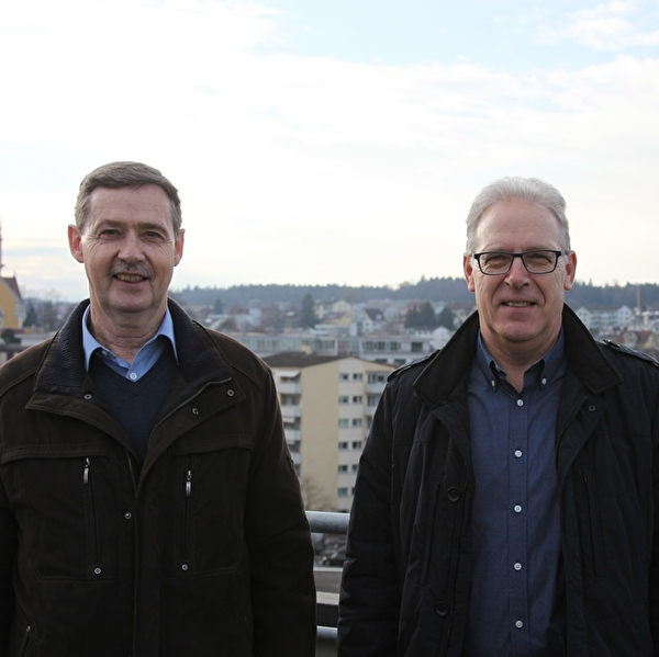 Heinz Huber (links) zusammen mit Viktor Bitzi (rechts)