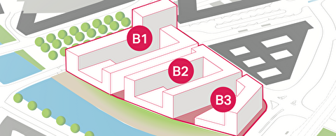 Baufelder B1 bis B3