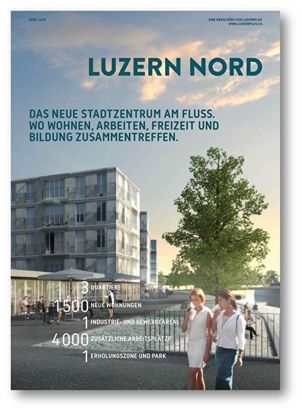 Cover Broschüre Luzern Nord Visualisierung Emmen Ufer