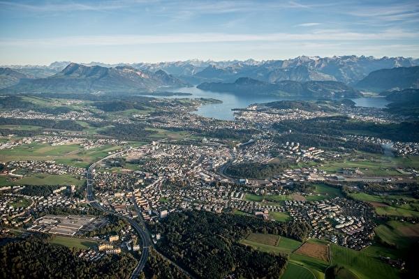 Luftbild der Gemeinde Emmen