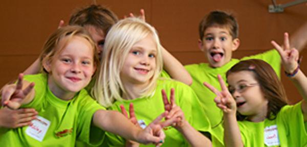 Kinder am Kinder-Camp